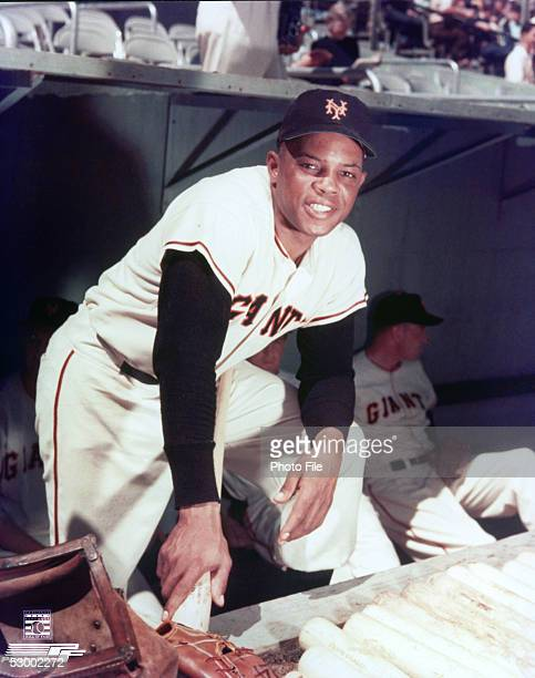 Willie Mays of the New York Giants poses for a portrait during a season game. Willie Mays played for the New York Giants from 1951-1957.