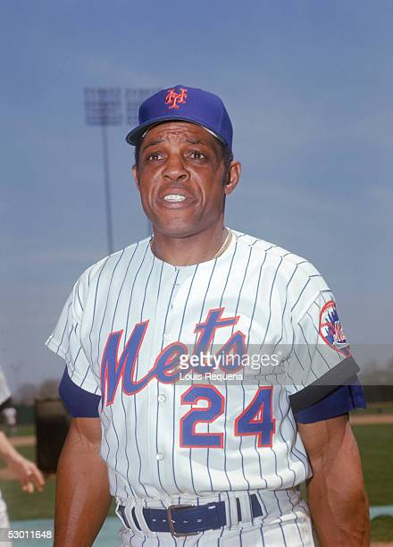 Willie Mays of the New York Mets poses for a portrait circa 19721973