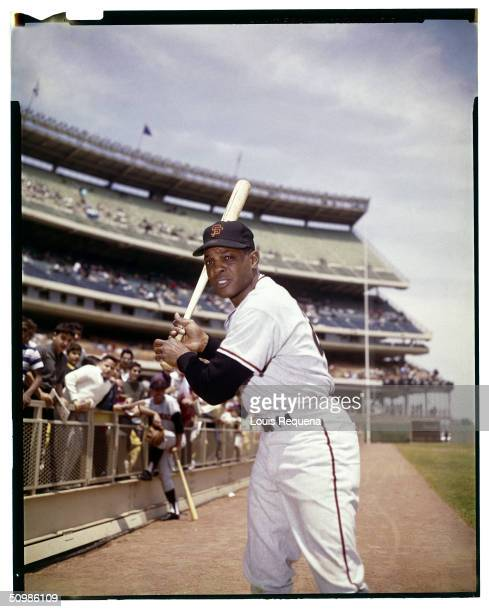 Willie Mays of the San Francisco Giants poses for a portrait circa 1964