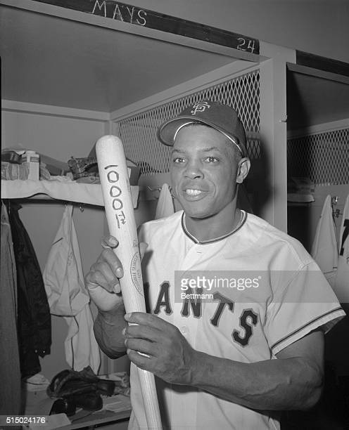 Willie Mays the San Francisco Giants 'Say Hey Kid' scored the 1000th major league run of his career against the Los Angeles Dodgers on September 10th...