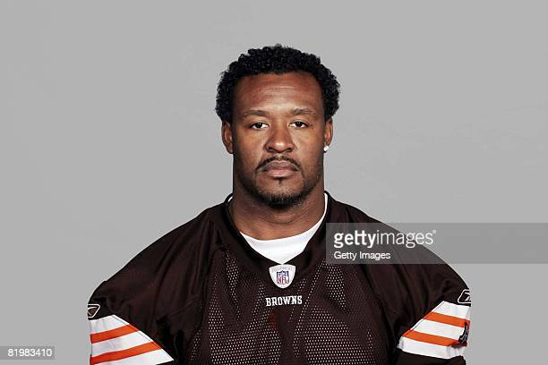 Willie McGinest of the Cleveland Browns poses for his 2008 NFL headshot at photo day in Cleveland Ohio