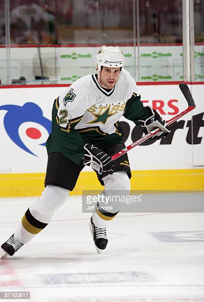 Willie Mitchell of the Dallas Stars skates during warm up prior to their game against the Vancouver Canucks at General Motors Place on March 11, 2006...
