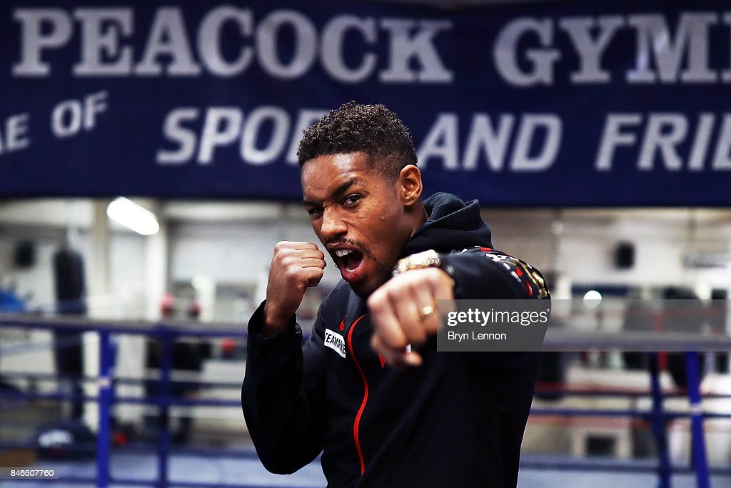 Willie Monroe Jr looks on during a media work out at the Peacock Gym on September 13, 2017 in London, England.