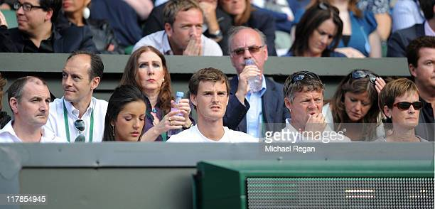 Willie Murray Alejandra Gutierrez Jamie Murray and Judy Murray attend the semifinal round match between Andy Murray of Great Britain and Rafael Nadal...