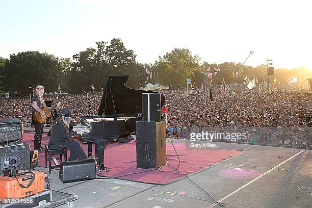 Willie Nelson and Bobbie Nelson perform in concert during the Austin City Limits Music Festival at Zilker Park on October 9 2016 in Austin Texas