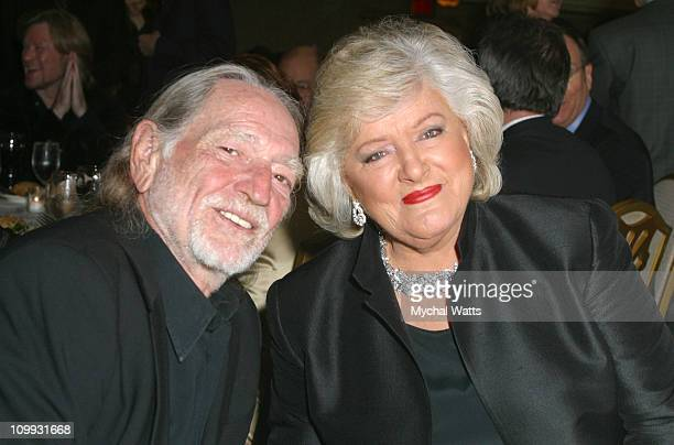 Willie Nelson And Frances W Preston during New York Chapter of The Recording Academy Celebrates Their 2003 Hero's Awards Gala at The Roosevelt Hotel...