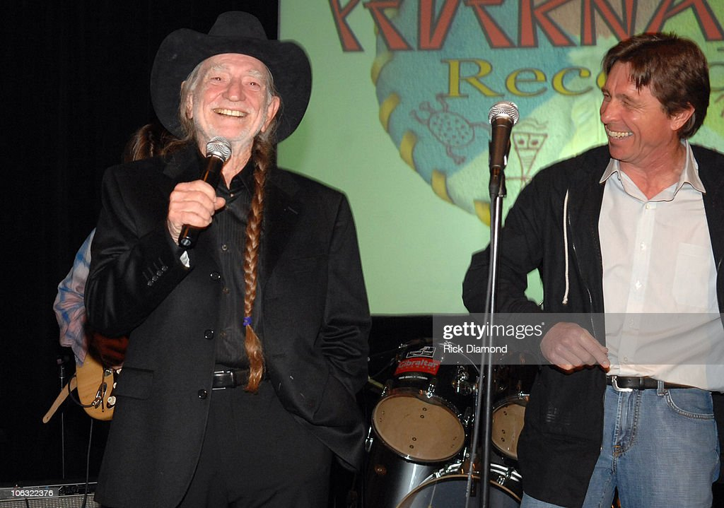 Willie Nelson, and Freddy Fletcher during Willie Nelson Announces The Launch of Pedernales Records - March 16, 2007 at Four Seasons Hotel, Austin in Austin, Texas, United States.