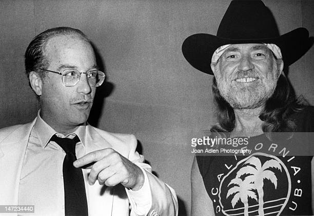 Willie Nelson and Richard Dreyfuss attend the Turner National Cable Forum on July 13 1990 at the Century Plaza Hotel in Century City California