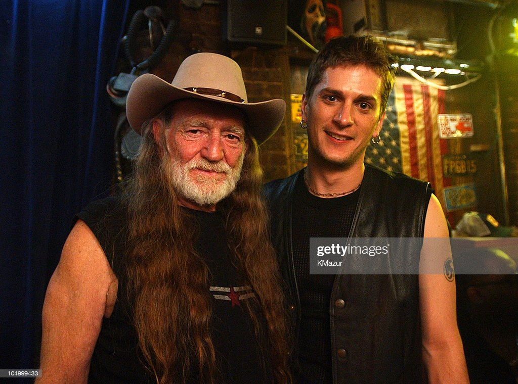 "Willie Nelson on the Set of His Video for the Song ""Maria/Shut-Up and Kiss Me"""