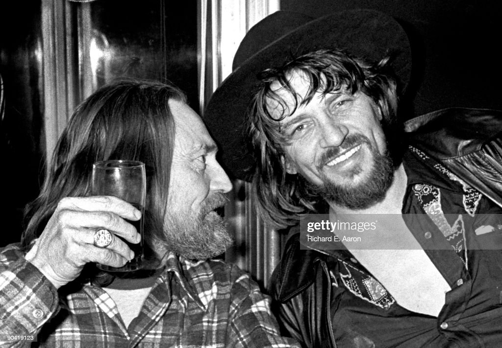 Willie Nelson And Waylon Jennings Together In 1978 : News Photo