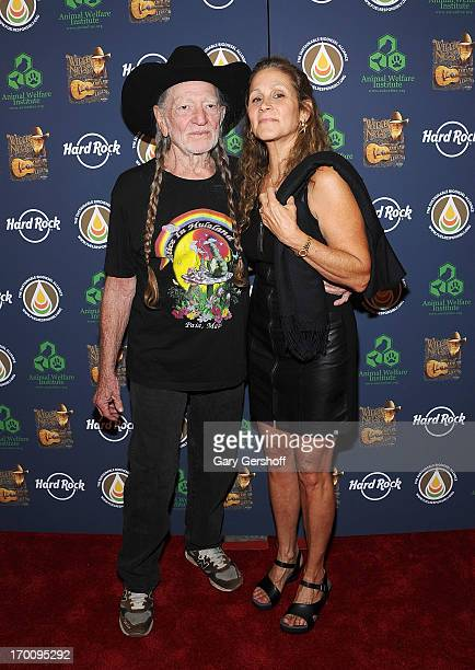 Willie Nelson and wife Annie D'Angelo attend the Hard Rock International's Wille Nelson Artist Spotlight Benefit Concert at Hard Rock Cafe Times...