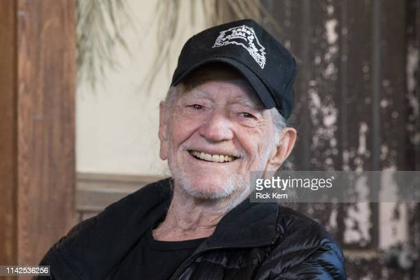 Willie Nelson discusses his new album 'Ride Me Back Home' during a taping for SiriusXM's Willie's Roadhouse Channel at Luck Ranch on April 13 2019 in...
