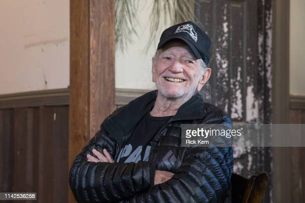 Willie Nelson discusses his new album 'Ride Me Back Home' during a taping for SiriusXM's Willie's Roadhouse Channel at Luck Ranch on April 13, 2019...