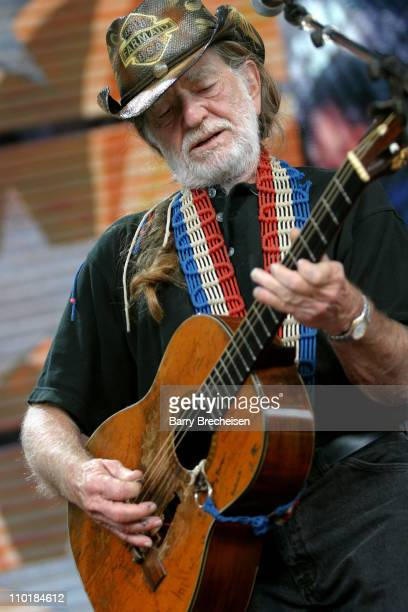 Willie Nelson during Farm Aid 2003 Show in Columbus Ohio United States
