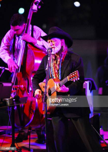 Willie Nelson during Willie Nelson and Wynton Marsalis in Concert Jazz At Lincoln Center in New York City at Jazz At Lincoln Center in New York City...