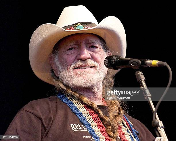 Willie Nelson during Willie Nelson in Concert August 22 2004 at Coveleski Stadium in South Bend Indiana United States