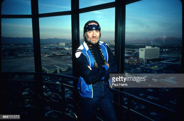Willie Nelson in a suite at Caesars Palace on June 18 1980 in Las Vegas Nevada