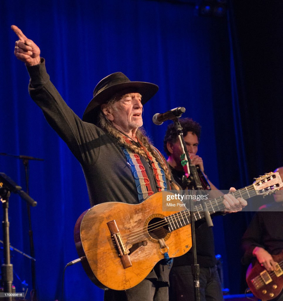 Willie Nelson Performs at Hard Rock International's Wille Nelson Artist Spotlight Benefit Concert at Hard Rock Cafe, Times Square on June 6, 2013 in New York City.