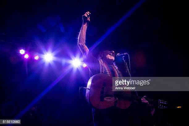 Willie Nelson performs at The Spotify House during SXSW on March 13 2016 in Austin Texas