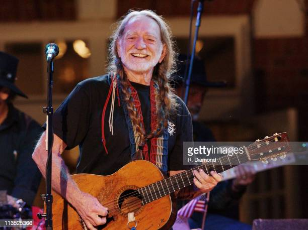 """Willie Nelson performs at the taping of """"CMT Homecoming: Jimmy Carter in Plains,"""" which will premiere on CMT in December 2004."""