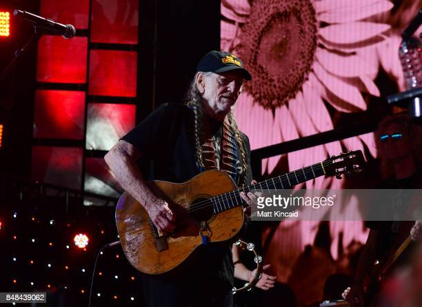 Willie Nelson performs during 2017 Farm Aid on September 16 2017 in Burgettstown Pennsylvania