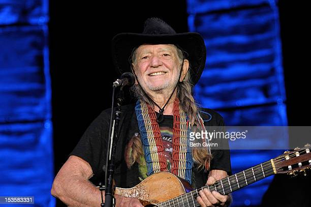 Willie Nelson performs during the 2012 Johnny Cash Music Festival at Arkansas State University Convocation Center on October 5, 2012 in Jonesboro,...