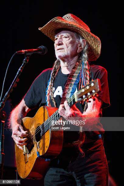 Willie Nelson performs during The 2017 Outlaw Festival at Joe Louis Arena on July 8 2017 in Detroit Michigan