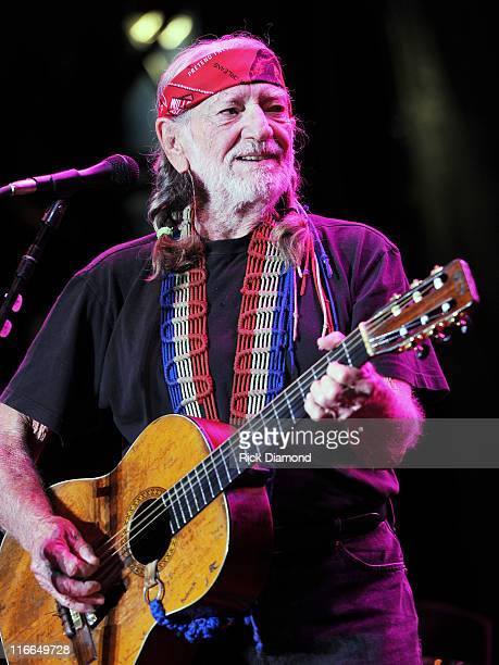 Willie Nelson performs during the First annual 2011 Rapids Jam Music Festival at the Carolina Crossroads Outdoor Amphitheate on June 16, 2011 in...