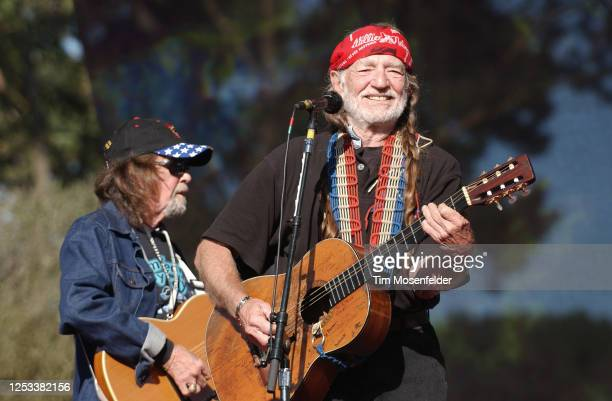 Willie Nelson performs during the Strictly Bluegrass 3 festival at Golden Gate Park on October 5, 2003 in San Francisco, California.