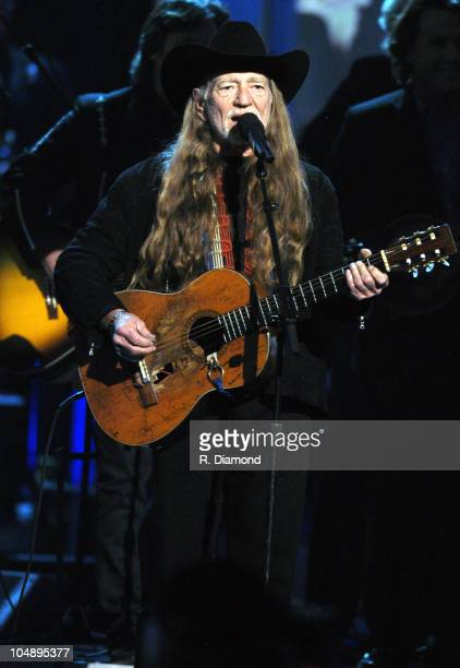 Willie Nelson performs during the tribute to the late Johnny Cash