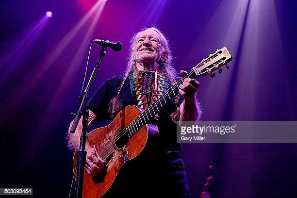 Willie Nelson performs in concert at ACL Live on December 31 2015 in Austin Texas