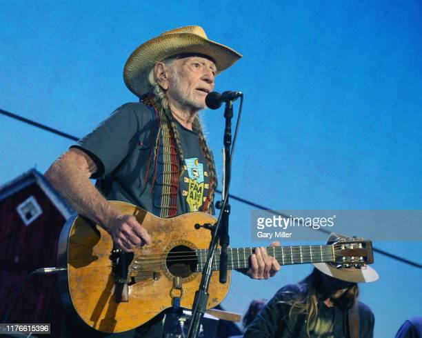 Willie Nelson performs in concert during Farm Aid 34 at Alpine Valley Music Theatre on September 21, 2019 in East Troy, Wisconsin.