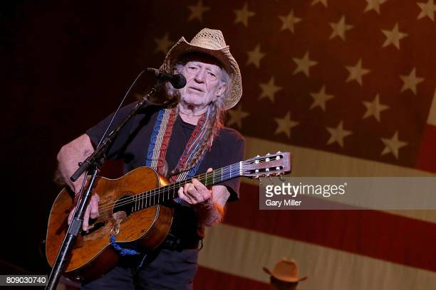 Willie Nelson performs in concert during the annual Willie Nelson 4th of July Picnic at the Austin360 Amphitheater on July 4, 2017 in Austin, Texas.
