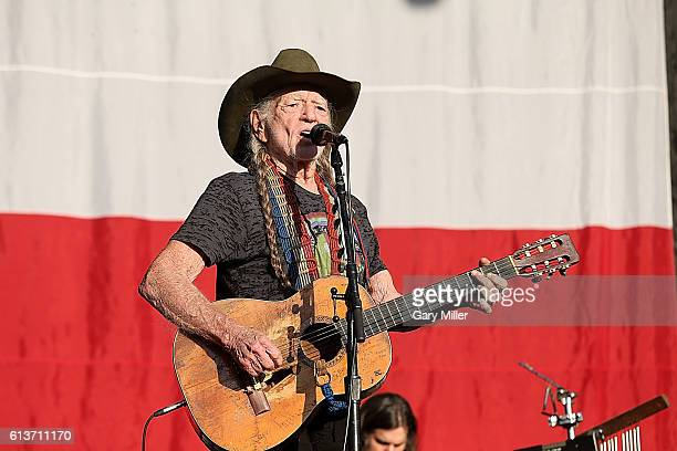 Willie Nelson performs in concert during the Austin City Limits Music Festival at Zilker Park on October 9, 2016 in Austin, Texas.