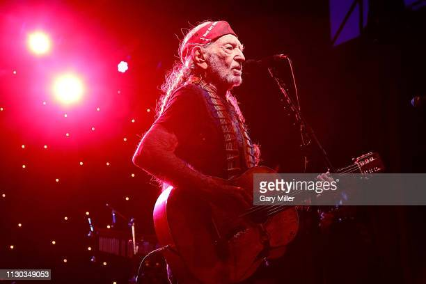 Willie Nelson performs in concert during The Luck Banquet on March 13 2019 in Luck Texas