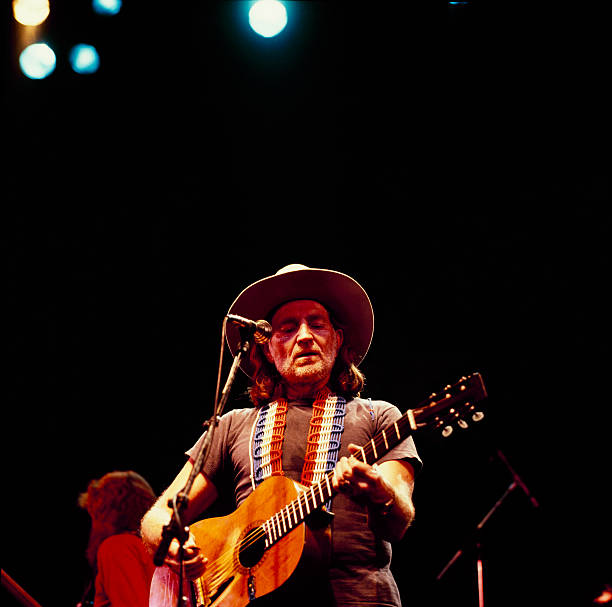 Willie Nelson Performs On Stage