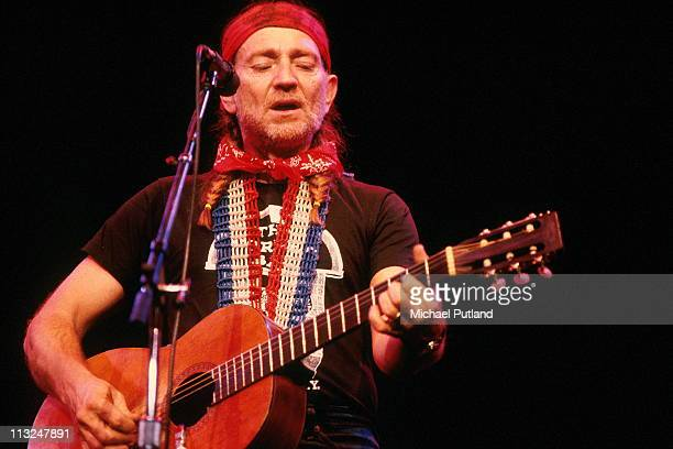 Willie Nelson performs on stage in New York 1979