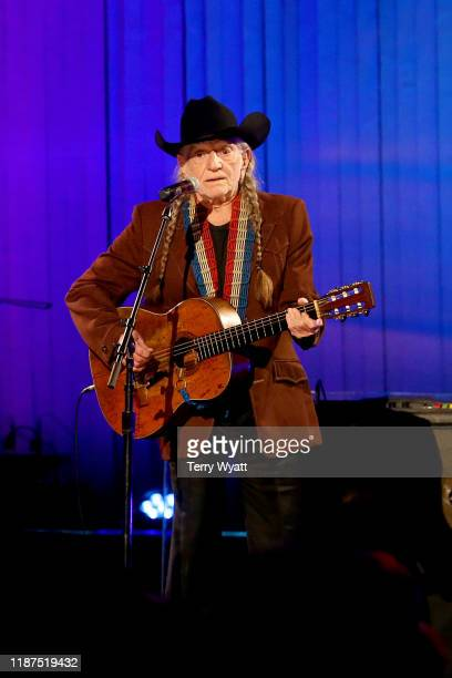 Willie Nelson performs onstage during the 53rd annual CMA Awards at the Bridgestone Arena on November 13 2019 in Nashville Tennessee