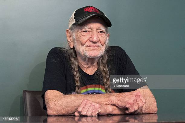 """Willie Nelson promotes his book """"It's A Long Story: My Life"""" at Barnes & Noble Union Square on May 7, 2015 in New York City."""