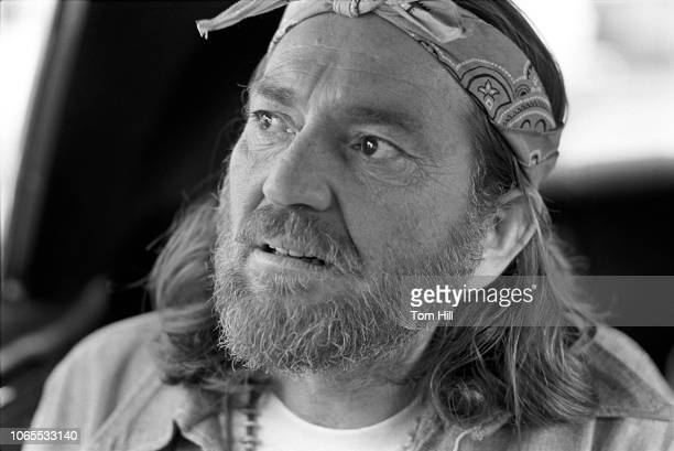Willie Nelson promotes his record Red Headed Stranger at Peaches Records and leaves his footprints in concrete on October 28 1975 in Atlanta Georgia