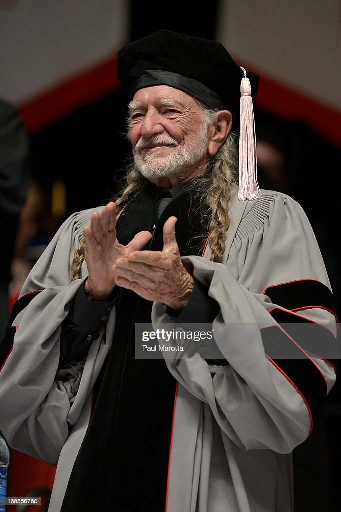 Willie Nelson receives an Honorary Doctor of Music Degree during the 2013 Berklee College Of Music Commencement Ceremony at Berklee College of Music on May 11, 2013 in Boston, Massachusetts.