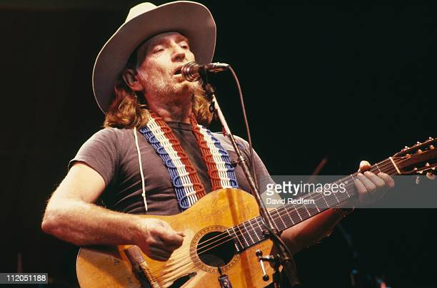 Willie Nelson US country music singersongwriter during a concert performance circa 1975
