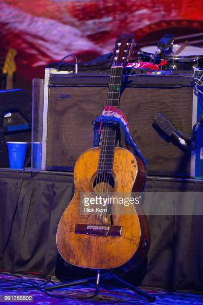 Willie Nelson's guitar 'Trigger' as seen onstage at 3TEN ACL Live on July 3 2018 in Austin Texas
