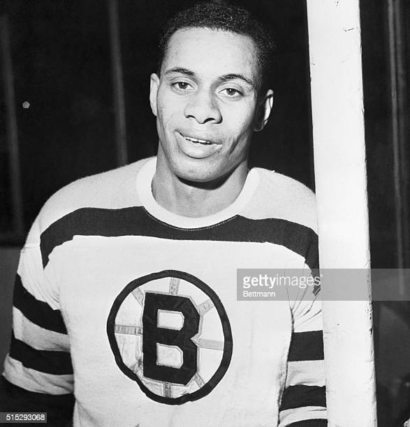Willie O'Ree of Fredericton New Brunswick Canada is the first Negro player in the National Hockey League He played his first game here Jan 18th...