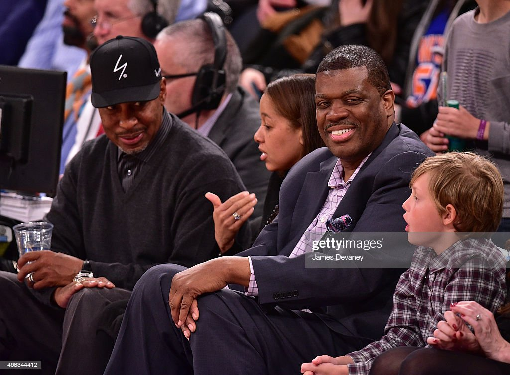 Celebrities Attend Brooklyn Nets Vs New York Knicks Game - April 01, 2015