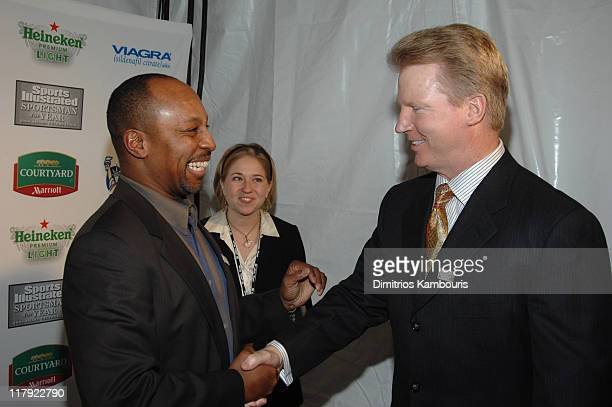 Willie Randolph and Phil Simms during Sports Illustrated Celebrates 2006 Sportsman of the Year Dwyane Wade at Skylight Studios in New York City New...