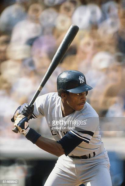 Willie Randolph of the New York Yankees bats against the Los Angeles Dodgers during the World Series at Dodger Stadium in Los Angeles California in...