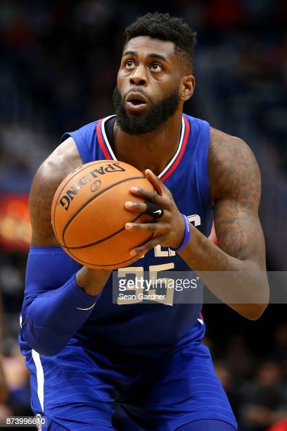 Willie Reed of the LA Clippers shoots a free throw during the second half of a game against the New Orleans Pelicans at the Smoothie King Center on...