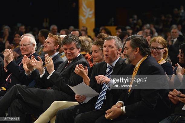 Willie Rennie Member of the Scottish Parliament takes his seat after addressing the Liberal Demcorat party conference on September 25 2012 in...