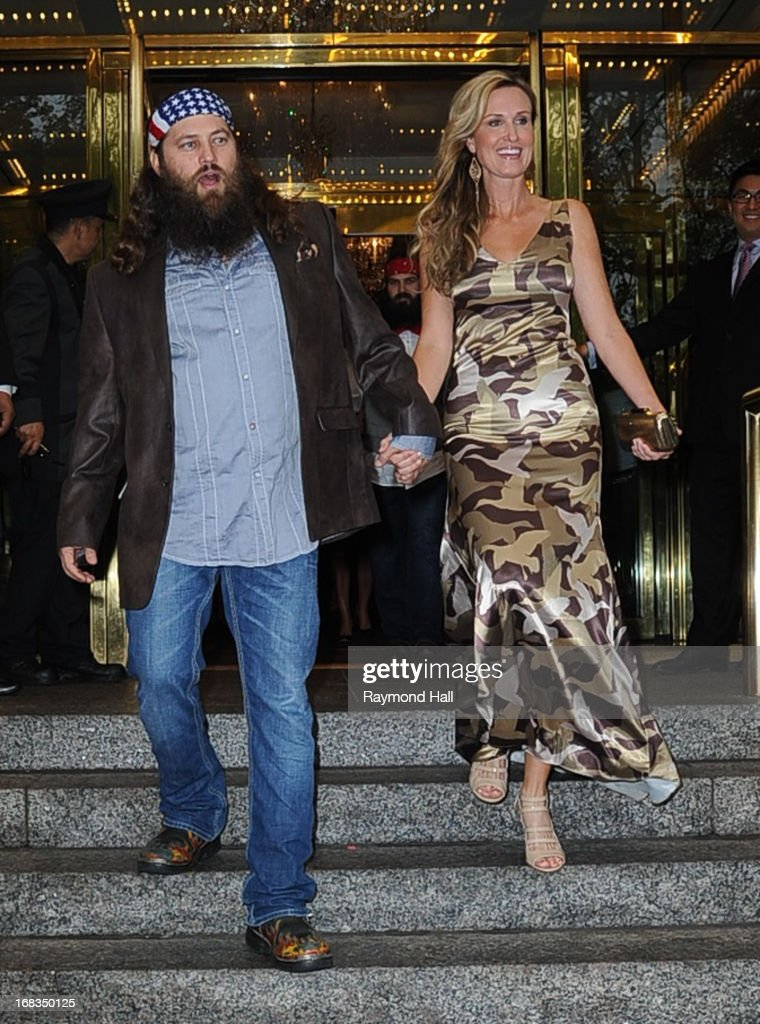 Willie Robertson and Korie Robertson are seen outside the Trump Hotel on May 8, 2013 in New York City.